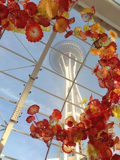 Chihuly Garden and Glass, Seattle, WA.  Right next door to the Space Needle.