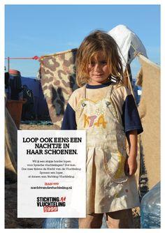 Advertentie voor de Nacht Van De Vluchteling van Stichting Vluchteling.
