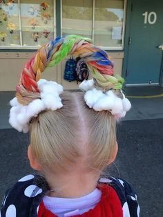 64 Of The Best Crazy Hair Day Dos Ever - School Funny - School Funny meme - - Crazy Hair Day ideas! Since you know this day is coming save for reference Alexandra Karabatsos The post 64 Of The Best Crazy Hair Day Dos Ever appeared first on Gag Dad. Crazy Hair For Kids, Crazy Hair Day At School, Crazy Hair Days, Crazy Hair Day Girls, Creative Hairstyles, Party Hairstyles, Cute Hairstyles, Hairstyles 2018, Rainbow Hairstyles