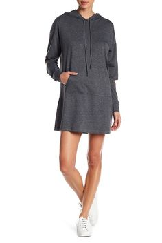 Keep warm and stay cozy in this casual hooded sweatshirt dress. - Attached drawstring hood #ad