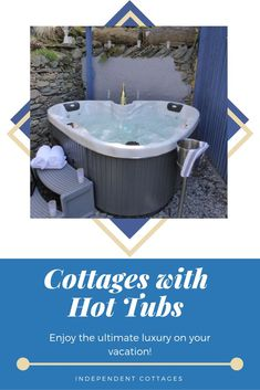 Self Catering Holiday Cottages With a Hot Tub to Rent Quirky Places To Stay, Cool Places To Visit, Uk Holidays, Luxury Holidays, Holiday Cottages Uk, Independent Cottages, Character Cottages, Outdoor Bathtub, Vacation Memories