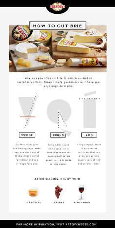 Slice and serve #Brie like a gourmet with these helpful #party tips. #artofcheese #presidentcheese