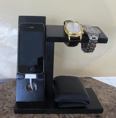 Etsy listing at https://www.etsy.com/listing/169876524/iphone-stand-iphone-dock-mens-valet-men