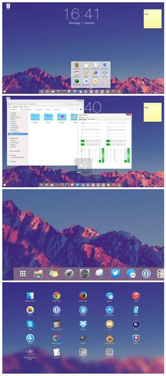 Windows 7 Mountain theme by on DeviantArt Desktop Screenshot, Mountain, Windows, Beautiful, Window, Ramen, Mountaineering