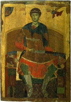 Saint Demetrius of Thessalonica. The Vladimir-Suzdal school icon from Assumption…