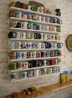 This is like the wall in Luke's (Gilmore Girls) Love it!