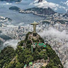 Amazing shot! Christ the Redeemer. Rio de Janiero, Brazil. Photo by @ai.visuals
