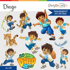 Go Diego Go instant download png transparent by PartyDreamsShop