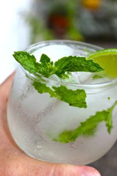 Sparkling Cojito: 1 bunch fresh mint, keep a few sprigs to the side for garnish,1/2 c sugar, 3 T water, 4 limes juiced, 3 c coconut rum, like Blue Chair Bay, 1 liter seltzer wate, Ice, Lime wedges for garnish. In a large pitcher, combine the mint, sugar and water, and muddle. Add the lime juice and rum, and stir to combine. Fill the pitcher with ice and add the seltzer.  Pour into ice filled glasses and garnish with a sprig of mint and a lime wedge.