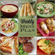 Weekly Menu Plan: August 30-Sept 4 from Jamie Cooks It Up!