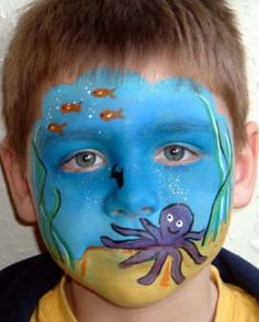 ocean face painting | Face Painting Pictures
