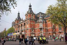 Stadsschouwburg municipal theatre building from 1894 in Amsterdam, Holland, Netherlands, Neo-Renaissance style.