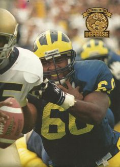 Buster Stanley. Photo by Per Kjeldsen, from 1998 Michigan Wolverines Football Calendar, by The Victors Club