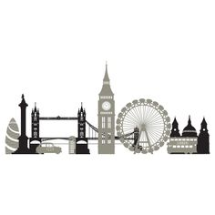 London Skyline Wall Decal, have it right above my bed. Love it!