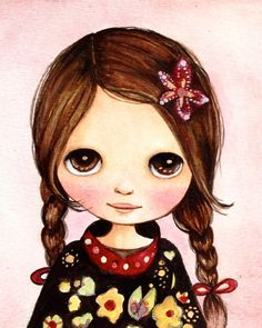 Blythe doll painting by claudiatremblay on Etsy