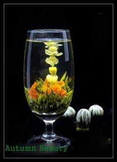 Boules de fleurs de thé vert (green tea)