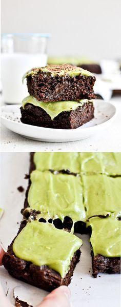 Fudgy Avocado Brownies by howsweeteats #Brownies #Avocado