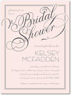 Chenille Signature Bridal Shower Invitation