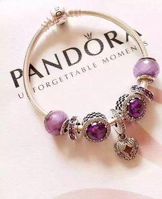 Tendance Bracelets 50% OFF!!! $199 Pandora Charm Bracelet Purple. Hot Sale!!! SKU: CB02001 PANDOR