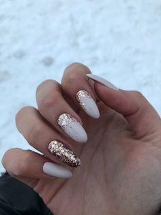 beliebte Gel Glitter Sarg Nageldesigns 34 ~ my.me - h a i r & n a i l s - popular gel glitter coffin nail designs 34 ~ my.me beliebte Gel Glitter Sarg Nageldesigns 34 ~ my. Nail Manicure, Nail Polish, Shellac Nails, Gray Nails, White Gold Nails, White Almond Nails, Nude Nails, Matte Nails, Nagel Blog