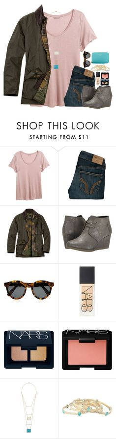 """Taylor Swift's Speech "" by lmr14 ❤ liked on Polyvore featuring H&M, Hollister Co., Barbour, TOMS, Illesteva, NARS Cosmetics, Kevia, Kendra Scott, Kate Spade and women's clothing"