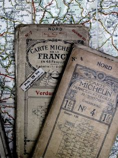 Vintage maps of France