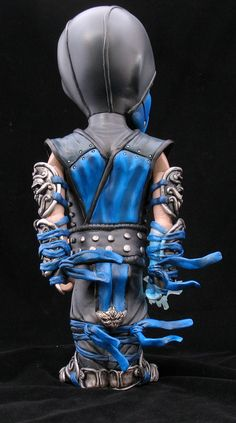 """""""Sub Zero""""   Custom Jaws [Jaws Vinyl Figure is Manufactured by Coarse Toys]   Materials: Mixed Media   Artist: Fplus   Image 4 of 4"""
