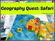 Geography Quest- Safari - a great project-based learning activity!