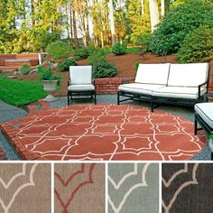 Meticulously Woven Natasha Contemporary Trellis Indoor/Outdoor Area Rug - Home Decorations Ideas