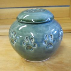 MADE TO ORDER Ceramic Cat Cremation Urn by celticsouljewelry