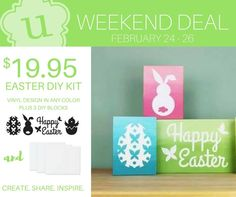 Easter DIY Kit ~ promotion ends 2/26 #ULvinyl #EasterDecor #DIYcrafts #DIYprojects #UppercaseLiving Kimberly.uppercaseliving.net
