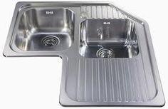 Tips in Selecting The Right Kitchen Sink - Kitchen Remodel Ideas Corner Sink Kitchen, Modern Kitchen Sinks, Kitchen Sink Faucets, New Kitchen, Kitchen Storage, Kitchen Decor, Kitchen Design, Kitchen Countertops, Kitchen Cabinets