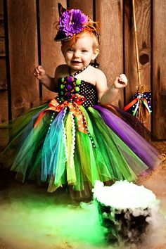 amazing witch tutu dress for halloween i love this i want to be a witch for halloween too maybe i could make a version of this for an adult - Baby Witch Costumes Halloween