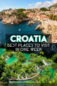 Best summer places to visit in Croatia in one week. Best summer places to visit Croatia in one week. Croatia Itinerary, Croatia Travel Guide, Best Places To Travel, Cool Places To Visit, Places To Go, Vacation Places, Cruise Vacation, Marrakesh, Croatian Coast