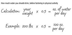 How to calculate how much water you should drink
