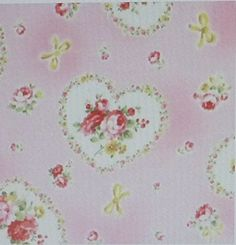 Princess Rose~Hearts by Lecien~ Cotton Fabric Floral for Sewing and Quilting - Sue's Creating Cottage Quilt Shop