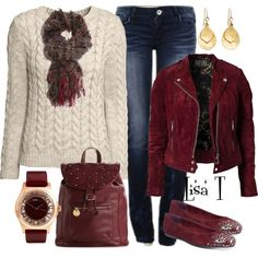 """""""Ivory Sweater"""" by lkthompson on Polyvore"""