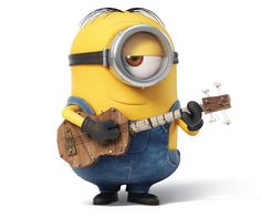 Minion with ukulele