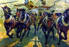 Gladiator Quadriga Chariot- by Giuseppe Rava