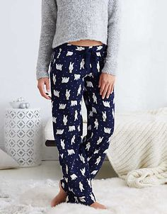 Aerie Real Soft® Flannel Sleep Pant , Navy | Aerie for American Eagle