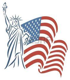 Resultado de imagen para estatua de la libertad dibujo