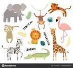 Elephant Face, Giraffe, Safari Animals, Animals For Kids, Scandinavian Style, Flamingo, Face Images, African Animals, Kids Prints