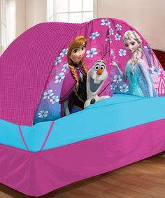 Look at this #zulilyfind! Frozen Twin Bed Tent & Pushlight Set by Frozen #zulilyfinds