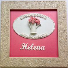 QUADRO MATERNIDADE-Helena moldura flor