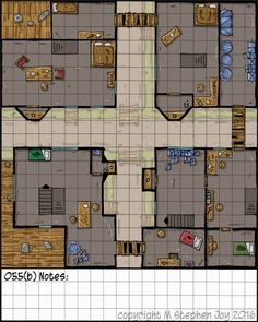 Foto: Map_a_Day_055(b)_City_Block #dnd #RPG #DungeonsAndDragons I messed up on the name. It should be 054(b) but I don't have time to fix it and I don't want to miss posting the map so here it is anyway.