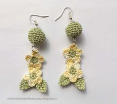 Melinda's Treasures: Pattern : Crochet Cute Flower Earrings...there's a good tutorial with pictures,and a free pattern!!