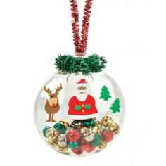 Nicole™ Crafts Jingle Bell Santa Disc Ornament