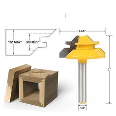 13.46$  Watch now - http://alin8q.shopchina.info/go.php?t=32728464836 - 1PC Small Lock Miter Router Bit Anti-kickback 45 Degree 1/2 Inch Stock 1/4 Inch Shank Tenon Cutter 13.46$ #buyonlinewebsite