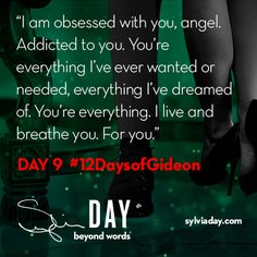 On the ninth day of Gideon my lover said to me… Writing Prompts Romance, Fiction Writing, Writing Advice, I Love Books, My Books, Sylvia Day Crossfire Series, Bad Boy Quotes, Gideon Cross, Book Hangover