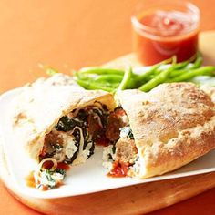 images of  meats calizone recipes | Meatball Calzone | Easy Recipes for Ground Beef | AllYou.com